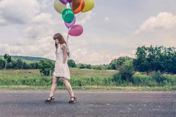 woman street walking girl
