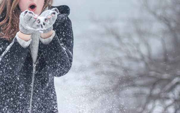 snow woman winter snowflakes